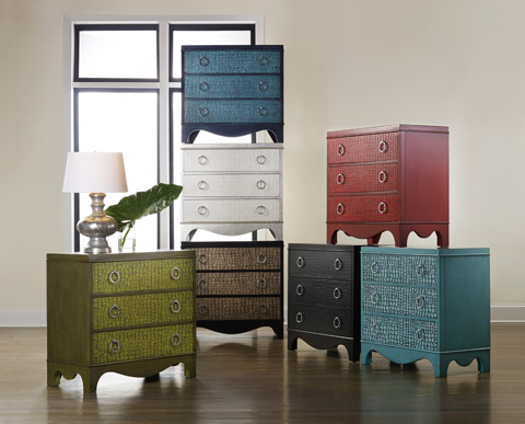 Hooker Furniture - Melange Semblance Chest with Silver Tips - 638-85144