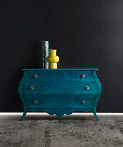 Hooker Furniture - Melange Nina Bombe Chest in Turquoise - 638-85171