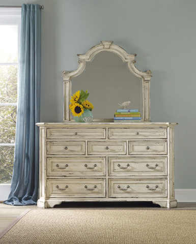 Hooker Furniture - Sanctuary Brighton Shaped Mirror - 5403-90009