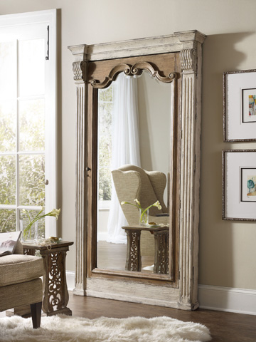 Hooker Furniture - Chatelet Floor Mirror with Jewelry Armoire Storage - 5351-50003