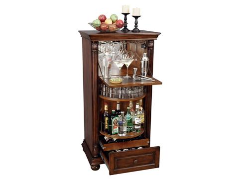 Howard Miller Clock Co. - Cognac Wine and Bar Cabinet - 695-078