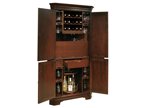 Howard Miller Clock Co. - Norcross Wine and Bar Cabinet - 695-111