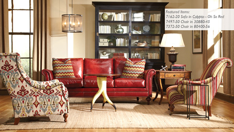 Huntington House - Leather Wing Chair - 7497-50