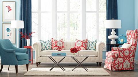 Huntington House - Upholstered Tufted Sofa - 7498-20