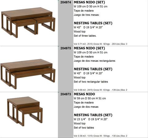 Hurtado - Nesting Tables - 204973