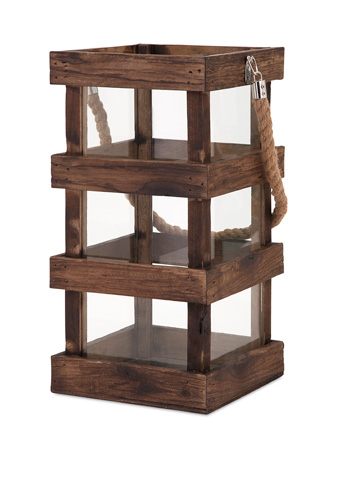 IMAX Worldwide Home - Nima Tall Wood Lantern - 65286
