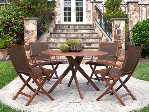 Jensen Leisure Furniture - Topaz Folding Natural Sling Chair - 6201N