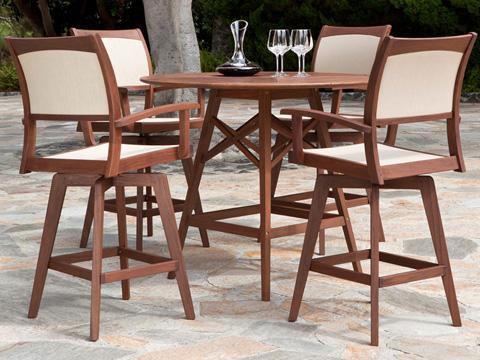 Jensen Leisure Furniture - Topaz Swivel Hi Dining Chair - 6282N