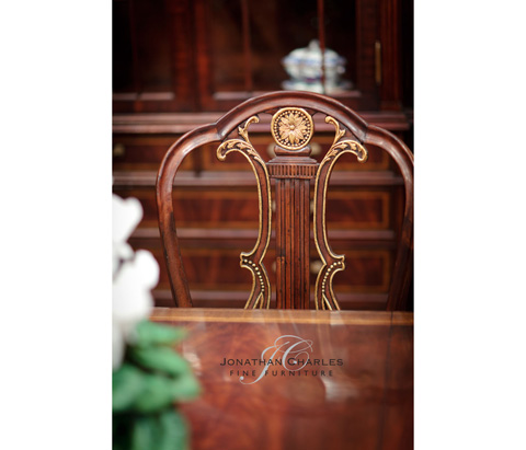 Jonathan Charles - Lyre Back Side Chair - 492836