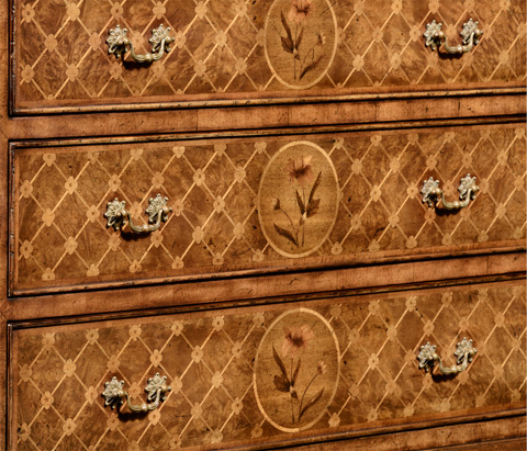 Jonathan Charles - Floral Marquetry and Parquetry Chest of Drawers - 492215