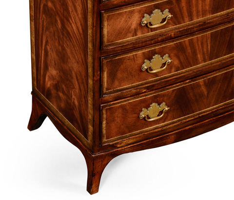 Jonathan Charles - Mahogany Bedside Chest of Drawers - 492262