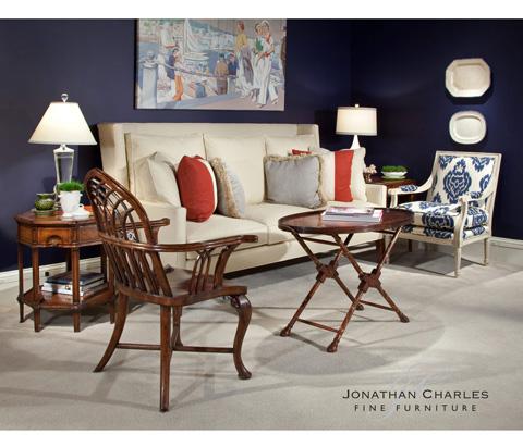 Jonathan Charles - Gothic Windsor Walnut Arm Chair - 492353