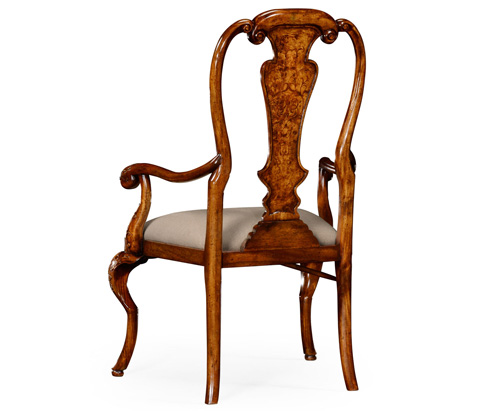 Jonathan Charles - William and Mary Inlaid Arm Chair - 492854