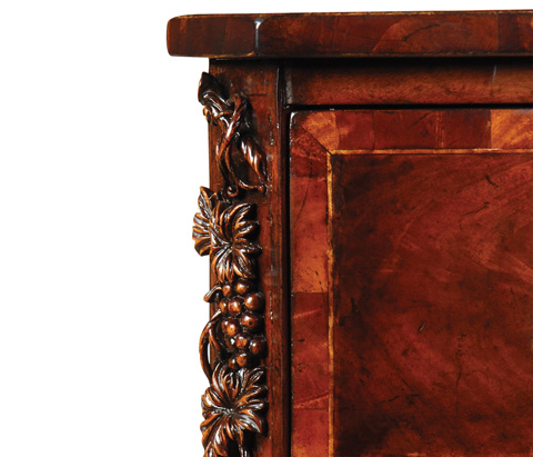 Jonathan Charles - Mahogany and Oyster Serpentine Chest - 492992