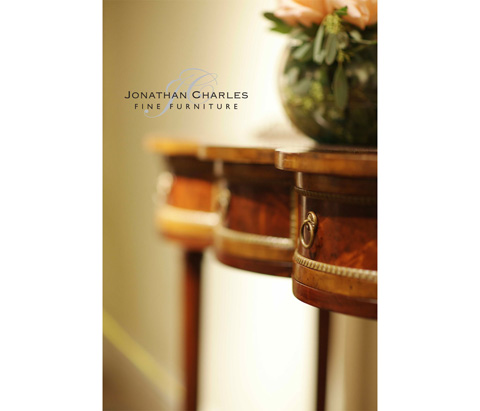 Jonathan Charles - Mahogany Scalloped Console - 493031