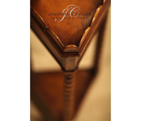 Jonathan Charles - Queen Anne Triangular Lamp Table - 493067