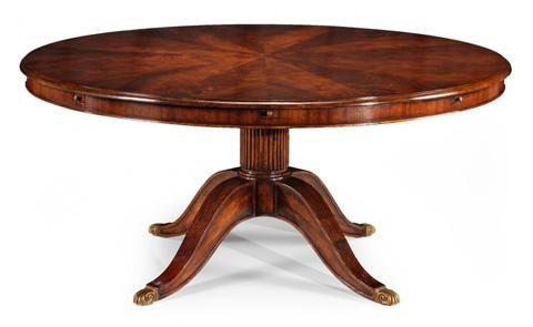 Jonathan Charles - Mahogany Extending Circular Dining Table - 493077