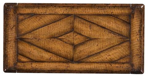 Jonathan Charles - Narrow Figured Walnut Side Table - 493446