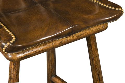 Jonathan Charles - Rustic Dark Oak Barstool - 493448
