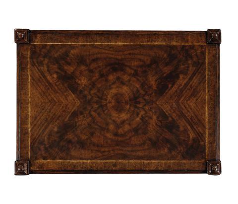 Jonathan Charles - Crotch Walnut Side Table - 493496