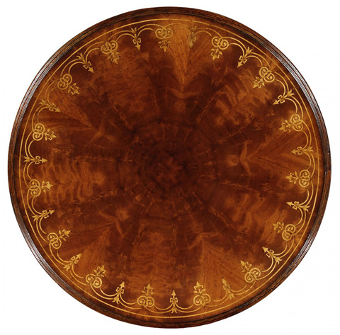 Jonathan Charles - Mahogany and Brass Round Side Table - 493727