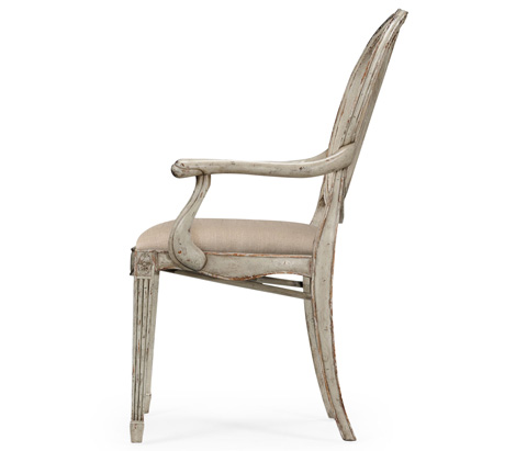 Jonathan Charles - Hepplewhite Wheatsheaf Arm Chair - 493861