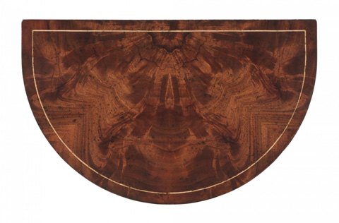 Jonathan Charles - Demilune Lamp Table in Mahogany - 493930