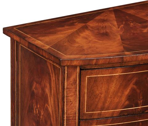 Jonathan Charles - Biedermeier Style Mahogany Bow Front Chest - 494023