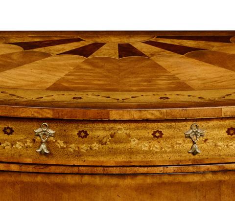 Jonathan Charles - Adam Style Demilune Cabinet - 494091