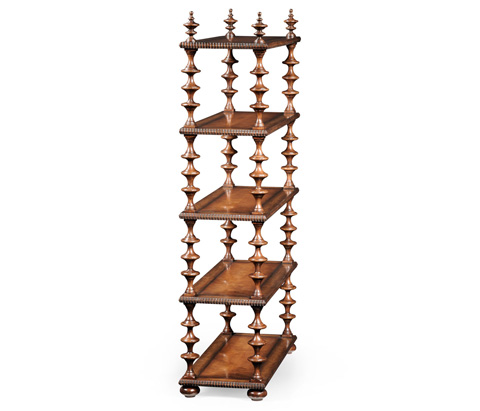 Jonathan Charles - Gadrooned Five-Tier Etagere - 494166