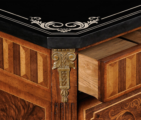 Jonathan Charles - Italian Commode with Black Scagliola Top - 494168