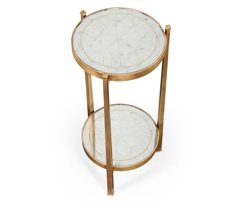 Jonathan Charles - Eglomise and Gilded Iron Wine Table - 494173-G