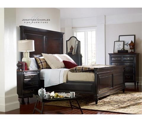 Jonathan Charles - King Ebonised Bed - 494235