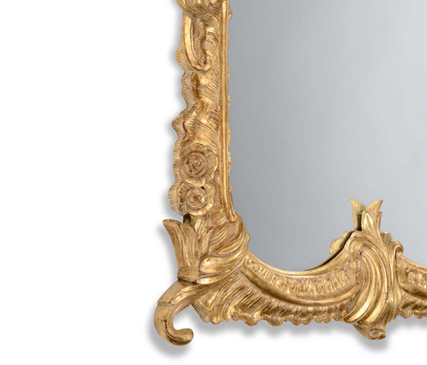 Jonathan Charles - Tall Gilded Mirror with Scallop Shell - 494373