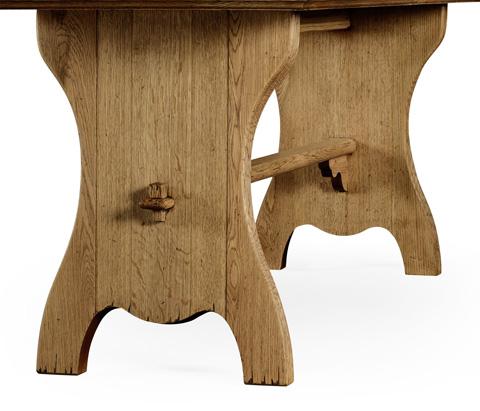 Jonathan Charles - Natural Oak Tavern Dining Table Large - 494437-L
