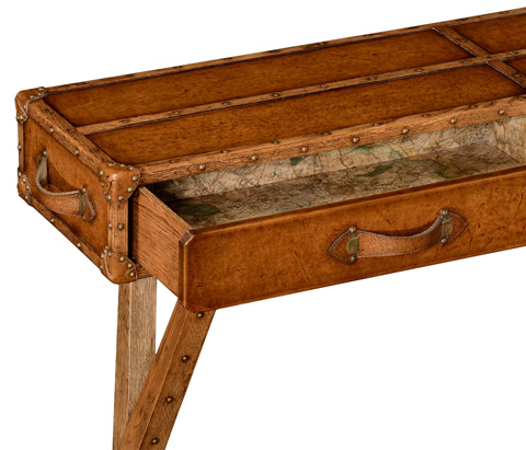 Jonathan Charles - Travel Trunk Style Console - 494465