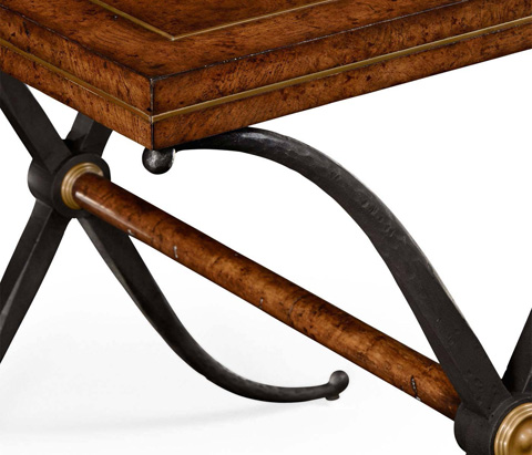 Jonathan Charles - Hammered Iron Side Table - 494466