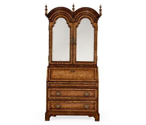 Jonathan Charles - Queen Anne Pollard Veneer Bureau Cabinet - 494477