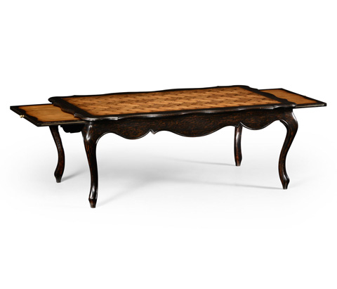 Jonathan Charles - French Style Black Finish Coffee Table - 494489
