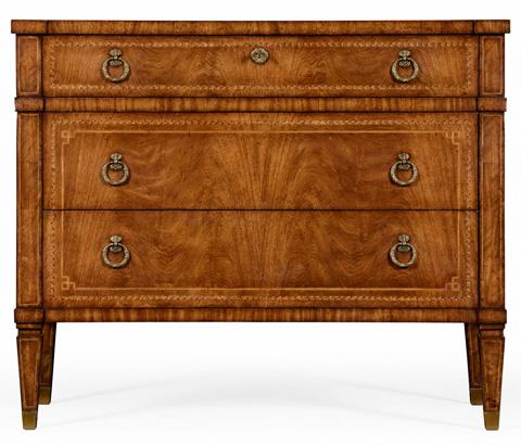 Jonathan Charles - Empire Style Walnut Three Drawer Chest - 494646