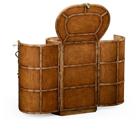 Jonathan Charles - Travel Trunk Style Metamorphic Dressing Table - 494682