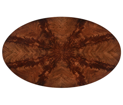 Jonathan Charles - Mahogany Biedermeier Style Oval Side Table - 494778