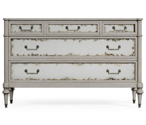 Jonathan Charles - Grey Painted And Antiqued Chest of Drawers - 494873