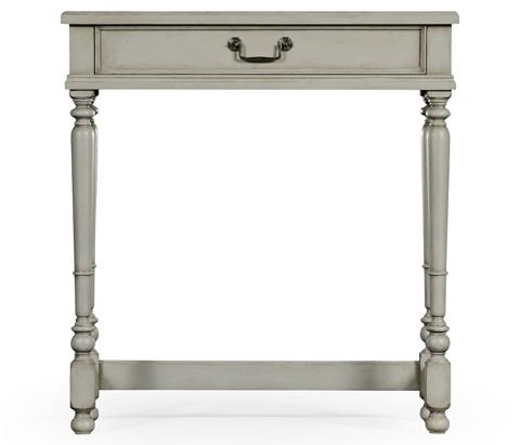 Jonathan Charles - Grey Painted Rectangular Side Table - 494886