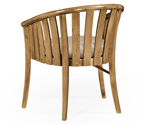 Jonathan Charles - Light Oak Tub Chair - 494900-L