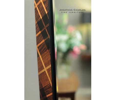 Jonathan Charles - Hand Inlaid Tartan Floor Mirror - 494925