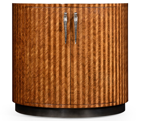 Jonathan Charles - Feather Inlay Cocktail Cabinet - 494958
