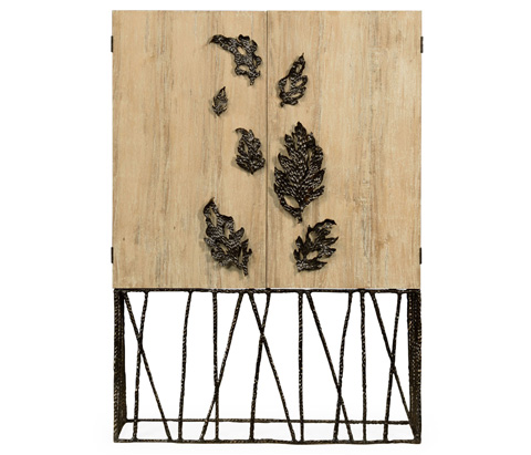 Jonathan Charles - Falling Leaves Drinks Cabinet - 495035