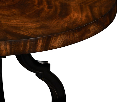 Jonathan Charles - Mahogany Centre Table with Gilded Lions Paw Feet - 495059