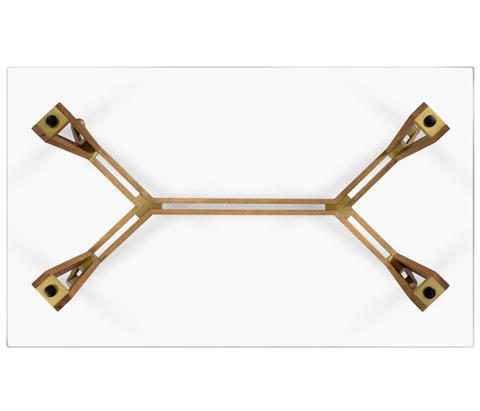 Jonathan Charles - Midcentury Style Rectangular Oak Coffee Table - 495077